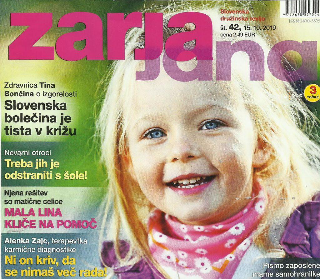 Lina v reviji Zarja