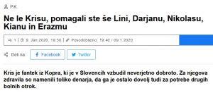 Lina v objemu Palčice Pomagalčice in dobrodelnih škratkov (Novice Svet24)