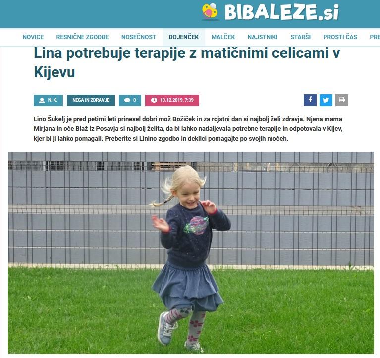 Lina na portalu BIBALEZE